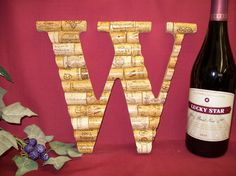 Wine Cork Monogram Letter Initial Wedding gift Personalized decoration X. $29.99, via Etsy.