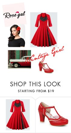 """Vintage Girl"" by loughrangeorgia ❤ liked on Polyvore featuring Bettie Page and vintage"