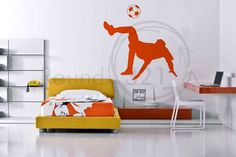 Soccer Wall Decal and Soccer Ball  #boy #boys #nursery #bedroom #playroom #personalized #custom #forthehome #walldecal #vinyldecal #vinyl #sports #player #athlete #teenager #soccer   http://www.round321.com