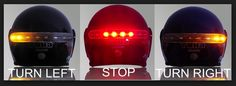 motorcycle helmets with brake lights and turn signals