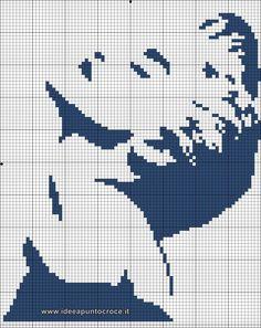 schema Madonna Punto croce monocolore Cross Stitch Charts, Cross Stitch Designs, Cross Stitch Patterns, Diy Embroidery, Cross Stitch Embroidery, Embroidery Patterns, Madonna, Hama Art, Cross Stitch Silhouette