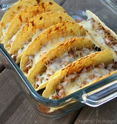 Oven Tacos - Click image to find more Food & Drink Pinterest pins