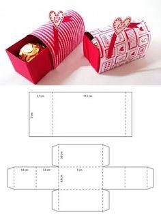 Ferrero Chocolate, Chocolate Box, Diy Gift Box, Diy Gifts, Origami Gift Box, Diy Paper, Paper Crafts, Paper Art, Valentine Day Gifts
