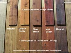 behr stains for deck wood Deck Stain Colors, Deck Colors, Behr Deck Over Colors, Wood Colors, Paint Colors, Cedar Stain, Staining Cedar Wood, Outdoor Wood Stain, Wood Deck Stain