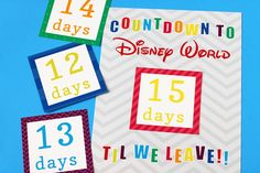 Printable Countdown to Disney Calendar