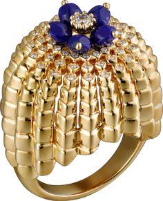 Cactus de Cartier ring Yellow gold, lapis lazuli, diamonds