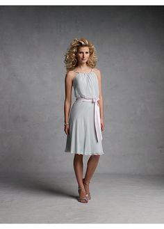 Stunning chiffon A-line Bateau Neckline Short Bridesmaid Dress