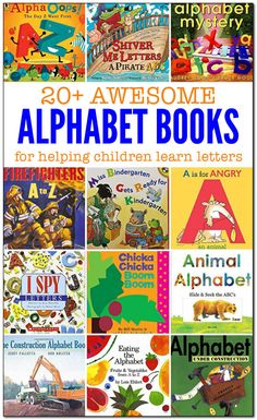 20 awesome alphabet books to help children learn their letters Preschool Books, Kindergarten Literacy, Early Literacy, Preschool Letters, Alphabet Activities, Book Activities, Preschool Activities, Children Activities, Alphabet Books