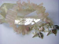 Bettelarmbänder - Bettelarmband aus Rosenquarzstäben - ein Designerstück von ASKAWO-Design bei DaWanda
