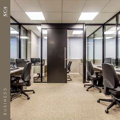 Divisórias de vidro piso teto para escritórios   home Lux marcenaria corporativa.