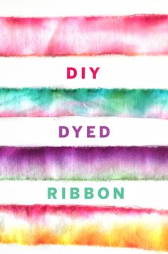 DIY Dip Dye Ribbon, perfect for gift wrapping!