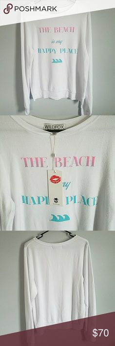 Wildfox The Beach is my Happy Place BBJ New with tags, never worn Wildfox Tops