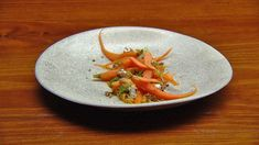 This perfectly spiced Carrot Salad is the perfect vegetable dish to accompany to any home cooked feast. Carrot Dishes, Carrot Recipes, Cooked Carrots, Roasted Carrots, Masterchef Recipes, Masterchef Australia, Onion Jam, Carrot Salad, Vegetable Dishes