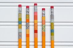 DIY: Washi Tape School Supplies by Ali Dosdoll for the Simon Says Stamp Blog.  August 2014