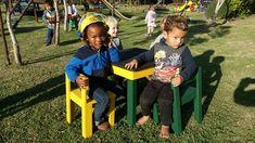 Re-cycled wood kiddies tables