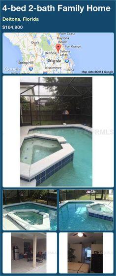 4-bed 2-bath Family Home in Deltona, Florida ►$164,900 #PropertyForSale #RealEstate #Florida http://florida-magic.com/properties/78599-family-home-for-sale-in-deltona-florida-with-4-bedroom-2-bathroom