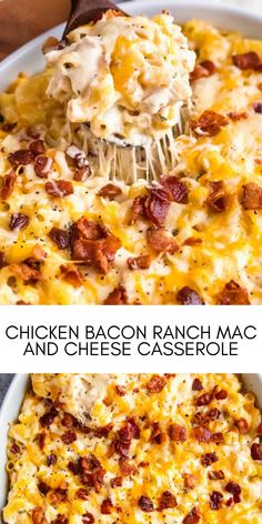 Classic baked mac and cheese gets a comforting and family-friendly chicken bacon ranch flavor twist! #easyrecipes #dinner #chickenrecipes #food #cooking #chicken #easy #recipes Easy Chicken Recipes, Easy Recipes, Easy Meals, Mac And Cheese Casserole, Macaroni And Cheese, Baked Mac, Chicken Bacon Ranch, Hawaiian Pizza, Dinner