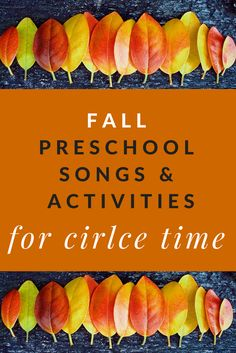 Grab these fall preschool songs, activities, and read-alouds to spice up your autumn circle time routine. Themes include apples and pumpkins. Fall Preschool Activities, Preschool Songs, Preschool Lesson Plans, Preschool Learning, Toddler Activities, November Preschool Themes, Educational Activities, Preschool Theme Fall, Preschool Circle Time Songs