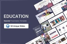 Education Keynote Presentation Template is a Flexible, clean, simple, and unique Keynote Template. All elements easy to edit and you can easily change the color to match it with your personal or company brand, Save your time with 7 Premade...