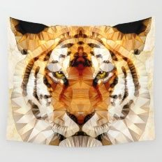 Abstract Tiger Wall Tapestry