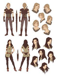 Character Designs by ~Zanariya on deviantART