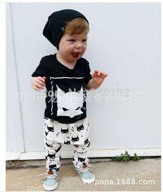 2016 nieuwe mode jongens kleding set Baby Kleding Unisex korte mouwen cartoon T-shirt + broek 2 stks katoen pasgeboren baby Kleding