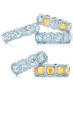 Tiffany yellow and white diamonds via The Jewellry Editor.