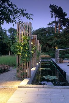 Contemporary garden by Sweden's king of garden design, Ulf Nordfjell Contemporary Garden Design, Contemporary Landscape, Outdoor Landscaping, Outdoor Gardens, Modern Gardens, Small Gardens, Landscape Architecture, Landscape Design, Pond Design