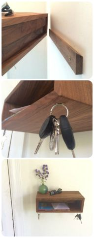 Entryway Organizer Gift Idea! Genius floating design with cool magnetic key catches