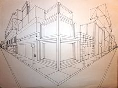 surreal 2 pt perspective | two point perspective art must include at families…