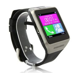 Smarte Bluetooth Smart Watch WristWatch Support Sim Card Insert Anti-lost Call Reminder Phone Mate Black. This Bluetooth Smart Watch Phone Can Work separately as a cell Phone after insert a SIM card, Can Make phone call ,View notifications from email, SMS, Caller ID, calendar and your favorite apps on your wrist. 1.54'' touch screen with the 1.3 MP camera,you can take the photos from the watch, 240*240pixel,CPU:MTK6260;Network:2GGSM 850/900/1800/1900MHz;Memory:128M+64M Support max 32GB TF...