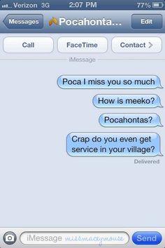 Pocahontas | 10 Texts From Disney Princesses To Their Princes