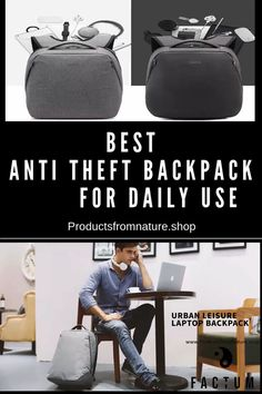 Best Anti Theft Backpack for Women - Use it Daily for School or Colloage. Jetsetter will love it for Travel! Backpack Storage, Rucksack Backpack, Laptop Backpack, Travel Backpack, Travel Bags, College Backpack Women, Stem Challenge, Luggage Sizes, Anti Theft Backpack