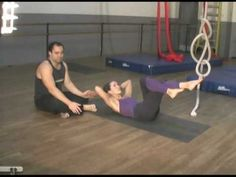 Aerial silk conditioning demo. Great for abs, core, arms and flexibility.  Aerial Conditioning - YouTube
