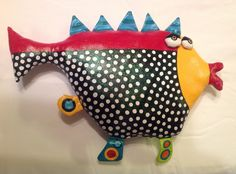 Kissy Fish Soft Sculpture for the wall by jodieflowers on Etsy