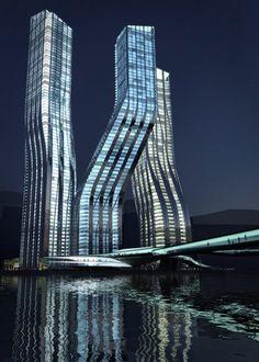 Dancing Towers, Dubai. So cool!
