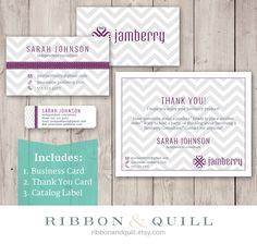 Jamberry Business Bundle (Business Card, Thank You, Label) - Custom PDF, Printable, Template ( Consultant, Vista Print, VistaPrint, BC ) by ribbonandquill on Etsy