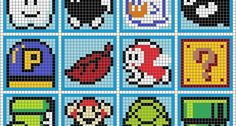 Mario coasters perler bead pattern. Could we find this in pokemon please? - WorkLAD - LAD Banter Funny Pics UK