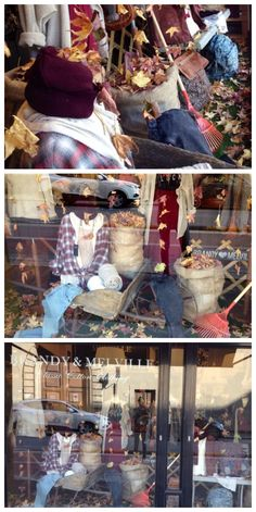 Autumn Leaves Window Display