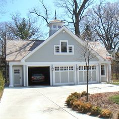 Most Garage Workshop plans are designed as one-story, detached garages. Garage plans with workshops are an ideal solution for those in need of extra parking and room for woodworking, crafts, home improvement projects and the like. Garage Apartment Plans, Garage Apartments, Garage Plans, Garage Loft, Barn Garage, Garage Doors, Garage Workshop, Garage Exterior, Garage Studio