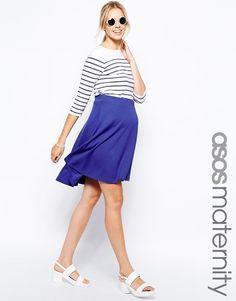 ASOS Maternity Full Midi Skater Skirt (Cobalt) UK Size:10 RRP £22.00