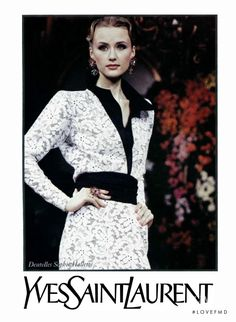 Photo - Yves Saint Laurent - YSL - Spring/Summer 1993 Ready-to-Wear - Fashion Advertisement | Brands | The FMD #lovefmd