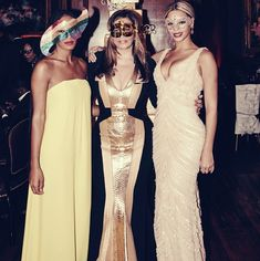 Beyonce And Solange Celebrated Tina Knowles' 60th Birthday With A Flaw-Free Masquerade Ball