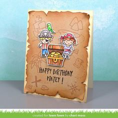 Chari Moss | happy birthday matey | Lawn Fawn Summer Release Week: Ahoy, Matey, Lift The Flap & Simple Gift Card Slots