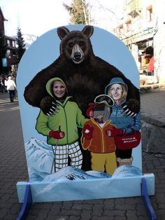 Bear and Sasquatch photo opp by happyworker, via Flickr #whistler #whistler bears #robpalmwhistler