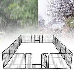 Yaheetech 24-inch 16 Panel Portable Metal Fence Folding Pet Playpen with Door/Gate for Large Small Animals Outdoor Indoor for Dog/Cat/Puppy/Rabbits Exercise Playpen Black * (paid link) Click image to review more details.