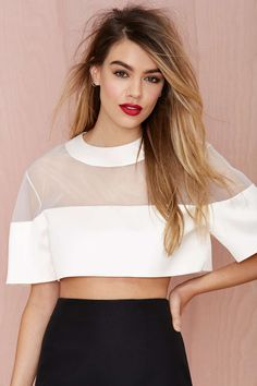 Solace London Jett Crop Top | Shop What's New at Nasty Gal
