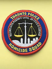 Toronto Police Department Homicide Squad Patch.