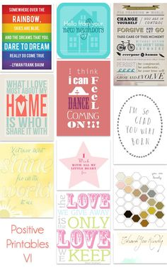 kind over matter: A Nice Thing To Do : Positive Printables VI