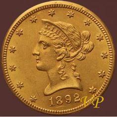 """USA, 10 Dolarów 1892 r. \""""CC\"""" - Coinart"""